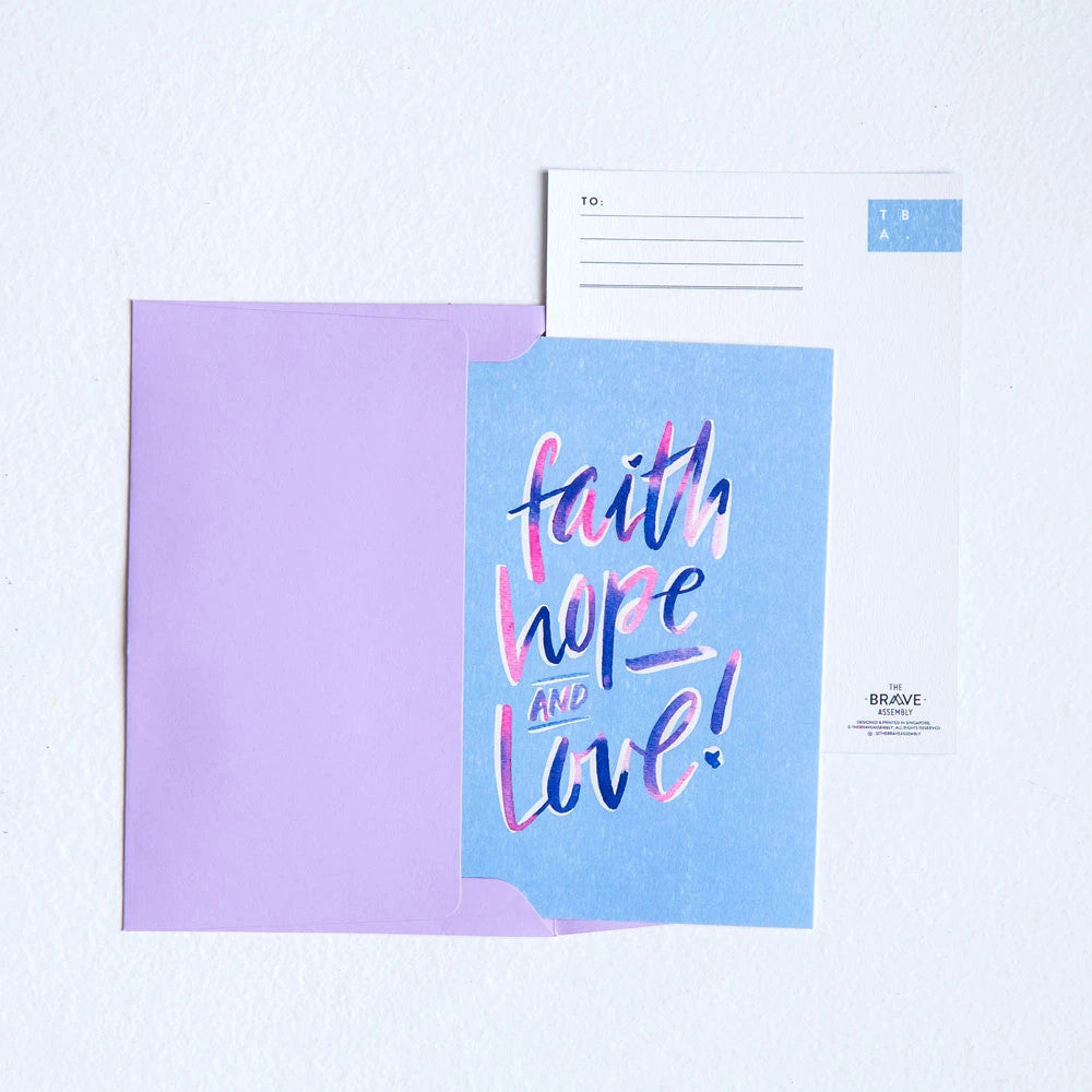 Purchase of card comes with plastic cover and free plain envelope for easy gifting