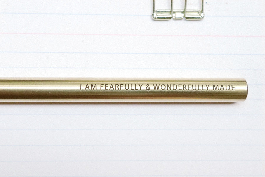 I am fearfully and wonderfully made engraving