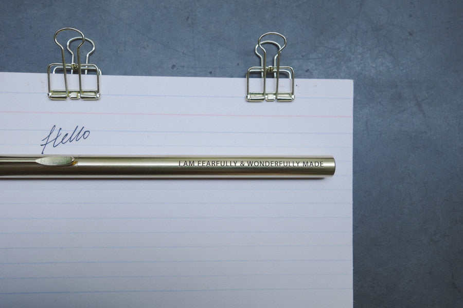The commandment co brass pen