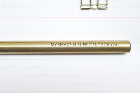 The-Commandment-Co-Brass-Pen-my-grace-is-sufficient-for-you-engraving