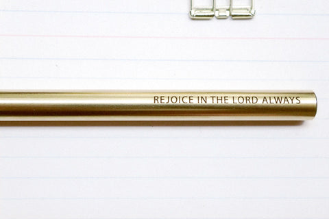 The-Commandment-Co-Brass-Pen-rejoice-in-the-lord-always-engraving