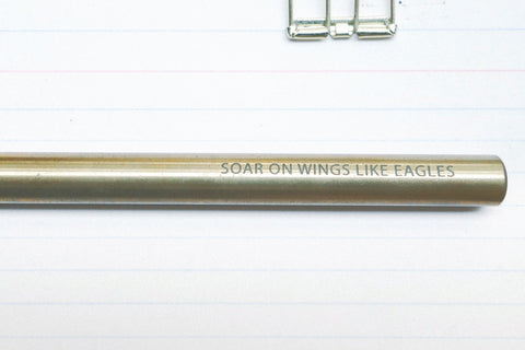 The-Commandment-Co-Brass-Pen-soar-on-wings-like-eagles-engraving