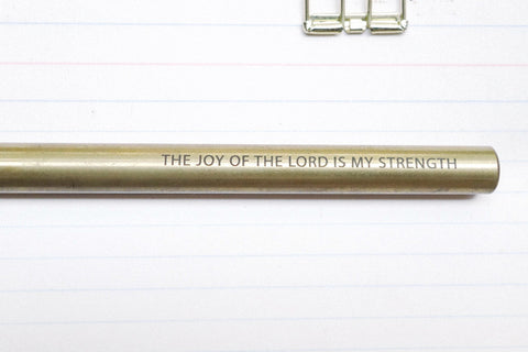 The-Commandment-Co-Brass-Pen-joy-of-the-lord-is-my-strength-engraving