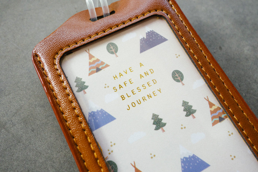 Luggage tag have a safe and blessed journey