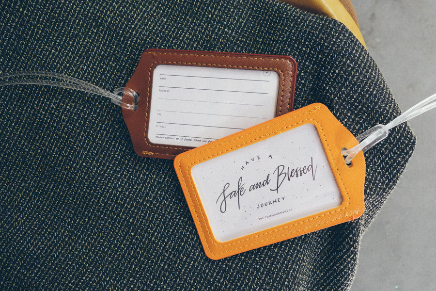 The commandment Co luggage tag have a safe and blessed journey