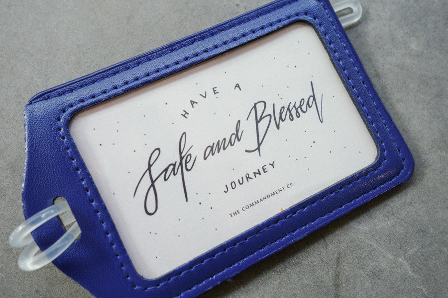 Luggage tag in blue