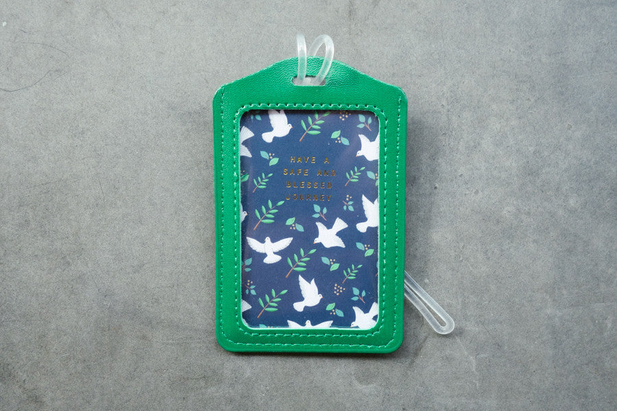 Th e commandment co luggage tag in green. Cute messages from bible.