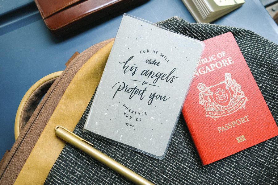 The Commandment Co passport cover He will order his angels to protect you wherever you go