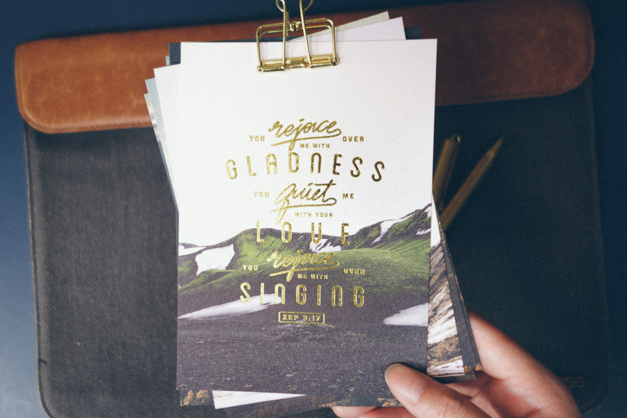 Gladness, love, singing {Card}