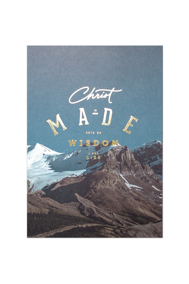 Christ made wisdom card