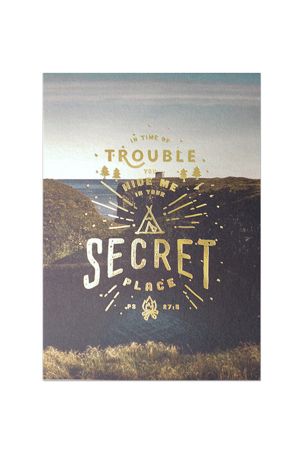 in time of trouble, hide me in your secret place| Gold stamped cards, encouragement verses to make everyone's day