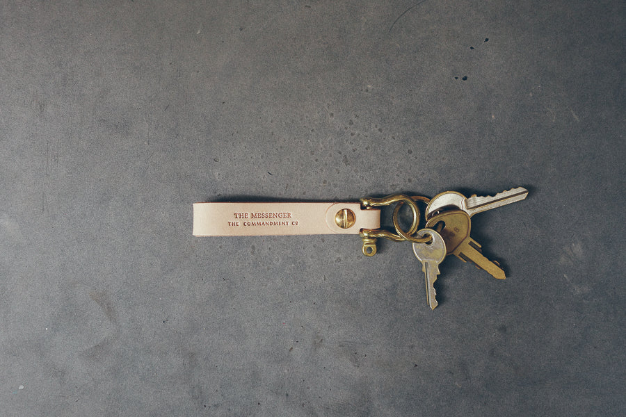 Leather Keychain with Brass