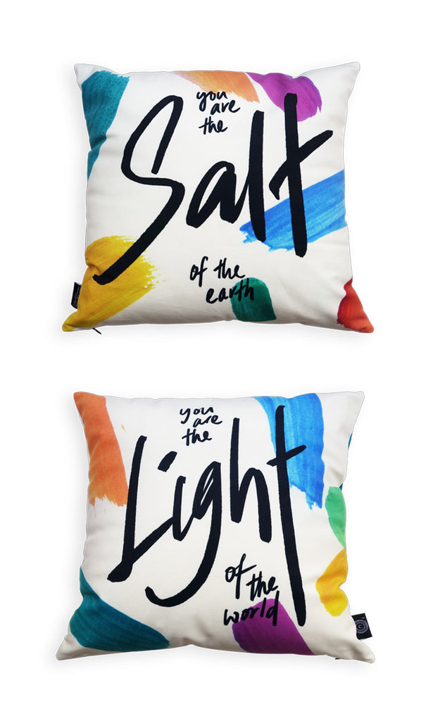 Comparison of front and back view of the two pillowcase