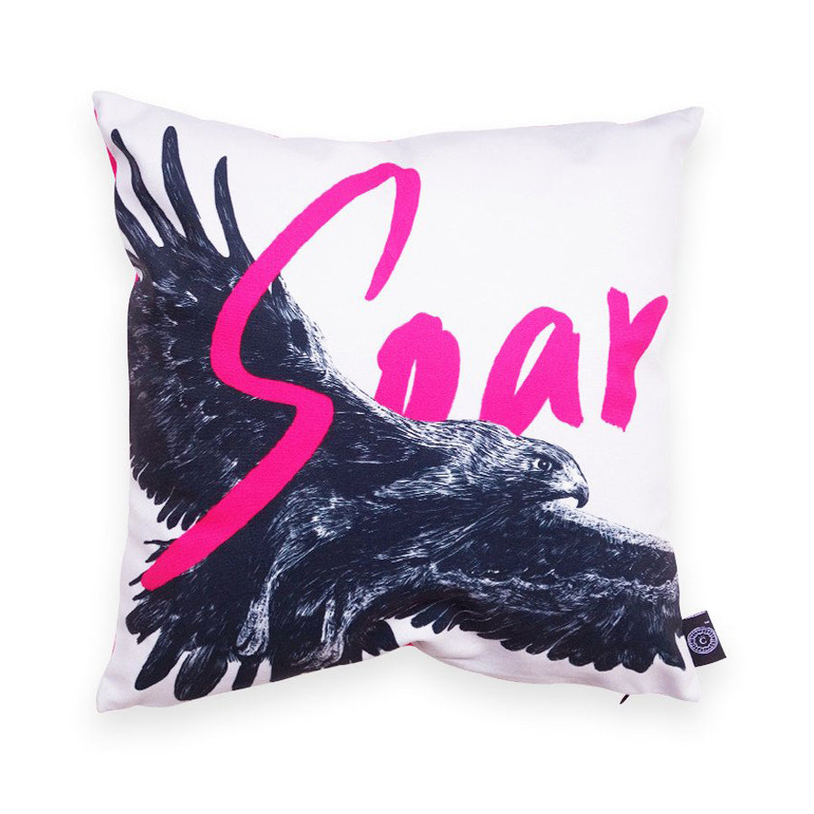 Pencil - Soar on Wings like Eagles {Cushion Cover}