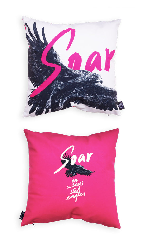 The_Commandment_Co_Cushion_Cover_Design_soar_on_wings_like_eagles_illustration