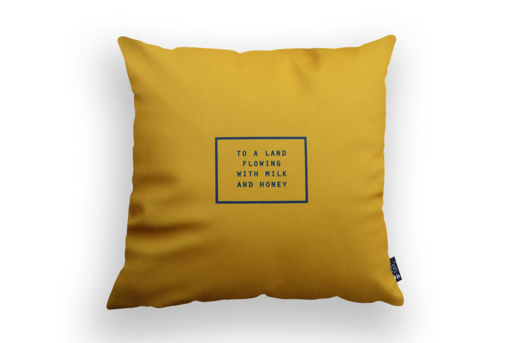 The Commandment Co A Land Flowing With Milk And Honey Cushion Cover Hey New Day