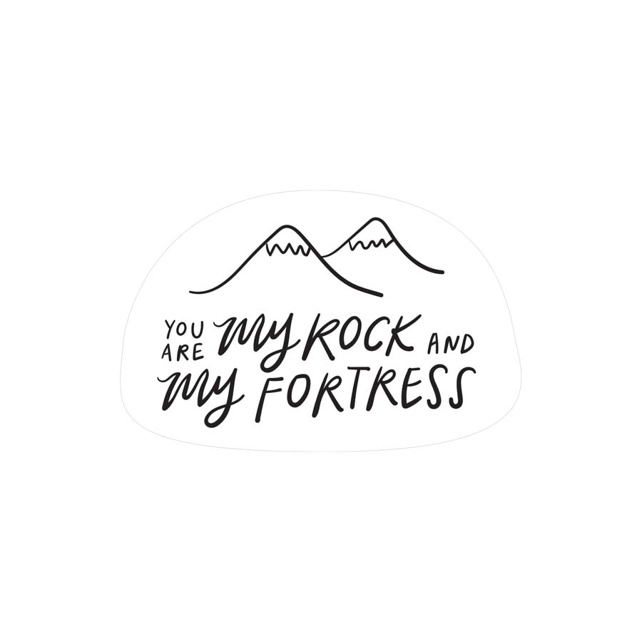 My Rock My Fortress {Mirror Decal Sticker}
