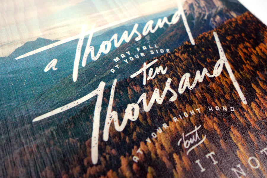 A Thousand Ten Thousand {Wood Board}