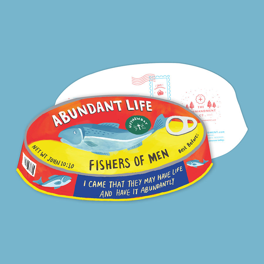 Abundant Life Canned Fish {LOVE SUPERMARKET Card}