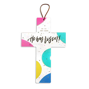 He Has Risen Cute Cross Bedroom Hanging Ornament