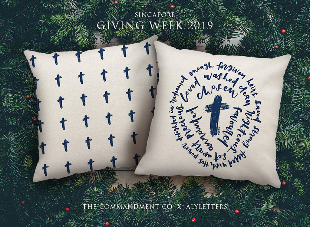 Giving week SG Cushion cover I am with you. Cotton linen cushion cover