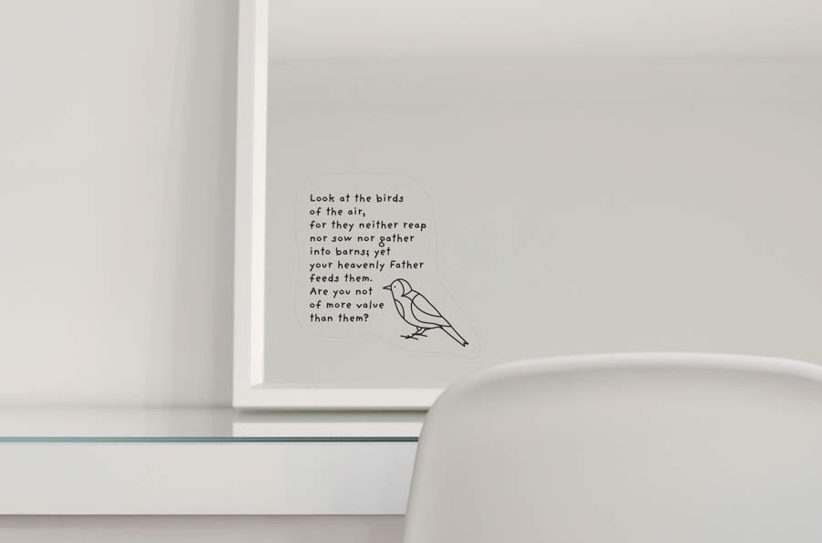 The Birds of the Air {Mirror Decal Stickers}
