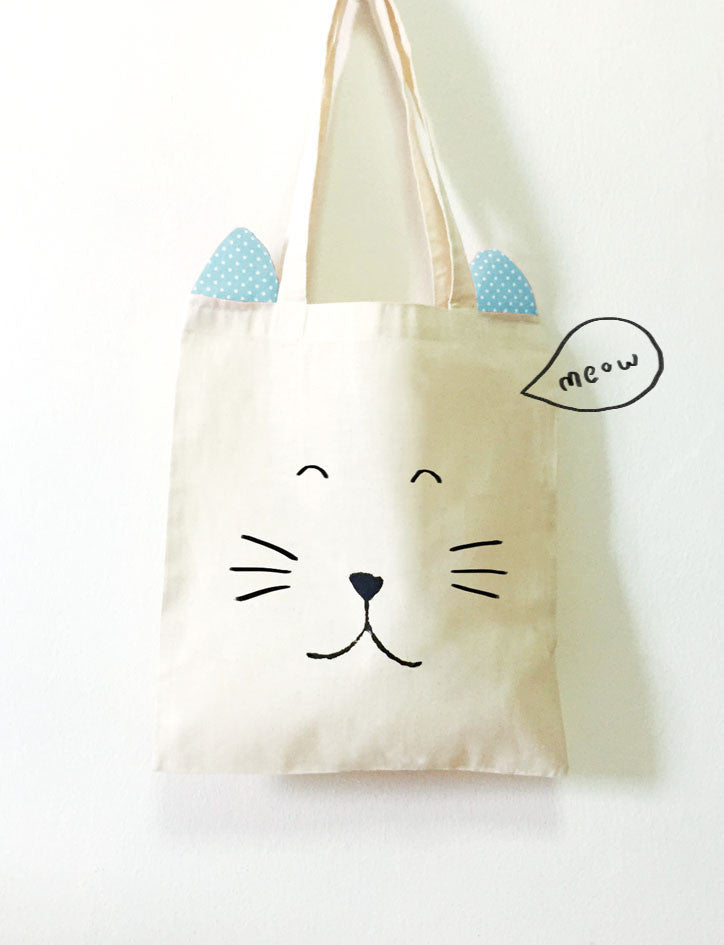 The Commandment Co Workshop x Gewwybeans x Wheniwasfour - Cute Animal Tote Bags with Ears