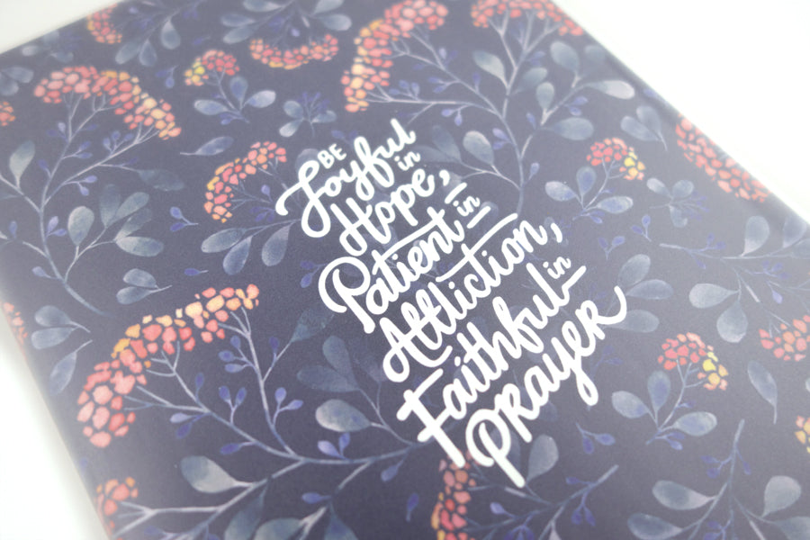 Joyful Patient Faithful {A5 Notebook}