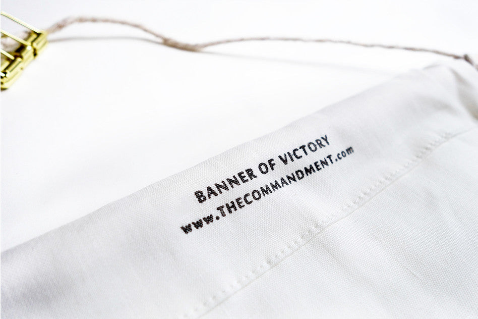 Banner of Victory brand made by thecommandmentco