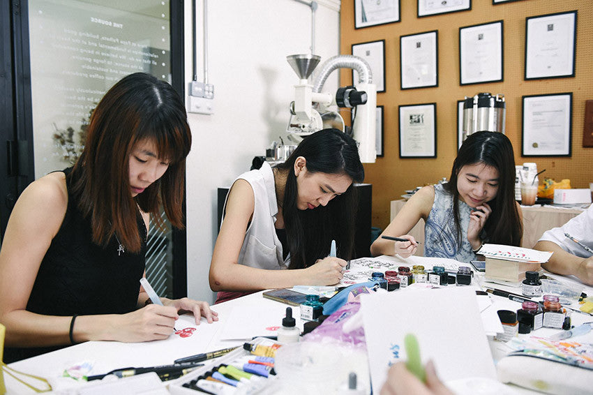 Brush lettering workshop singapore