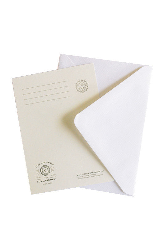 The card is provided together with a free white envelope.