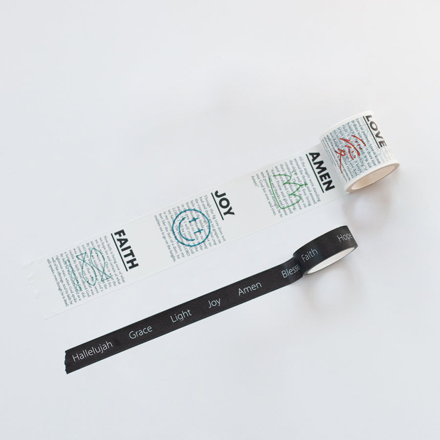 A set of 2 Amen Love Joy Faith washi tape