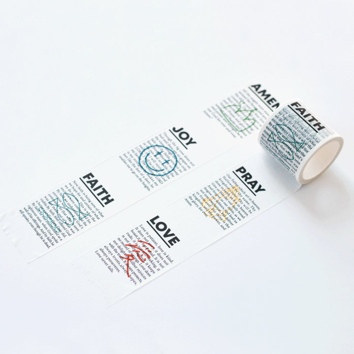 Cute spiritual amen joy pray faith love washi tape