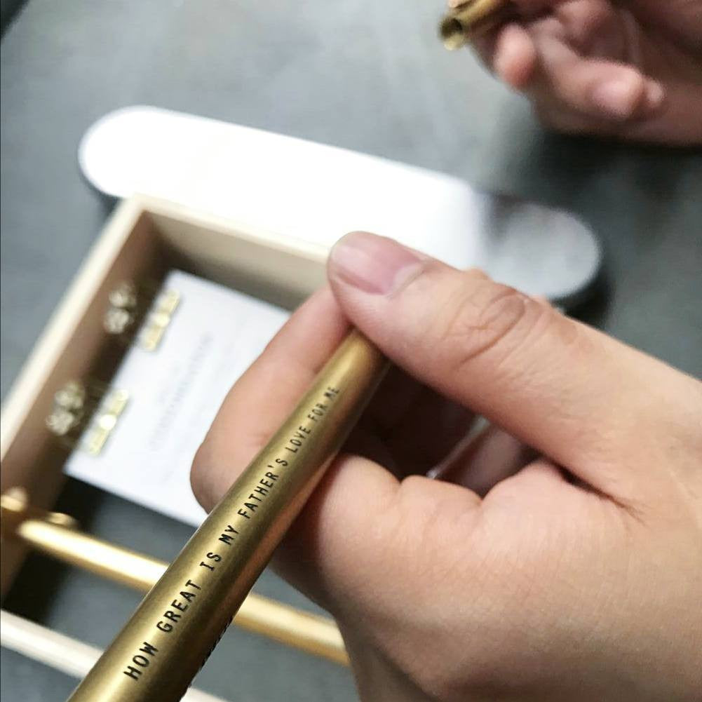 customise brass pen with engraving in singapore