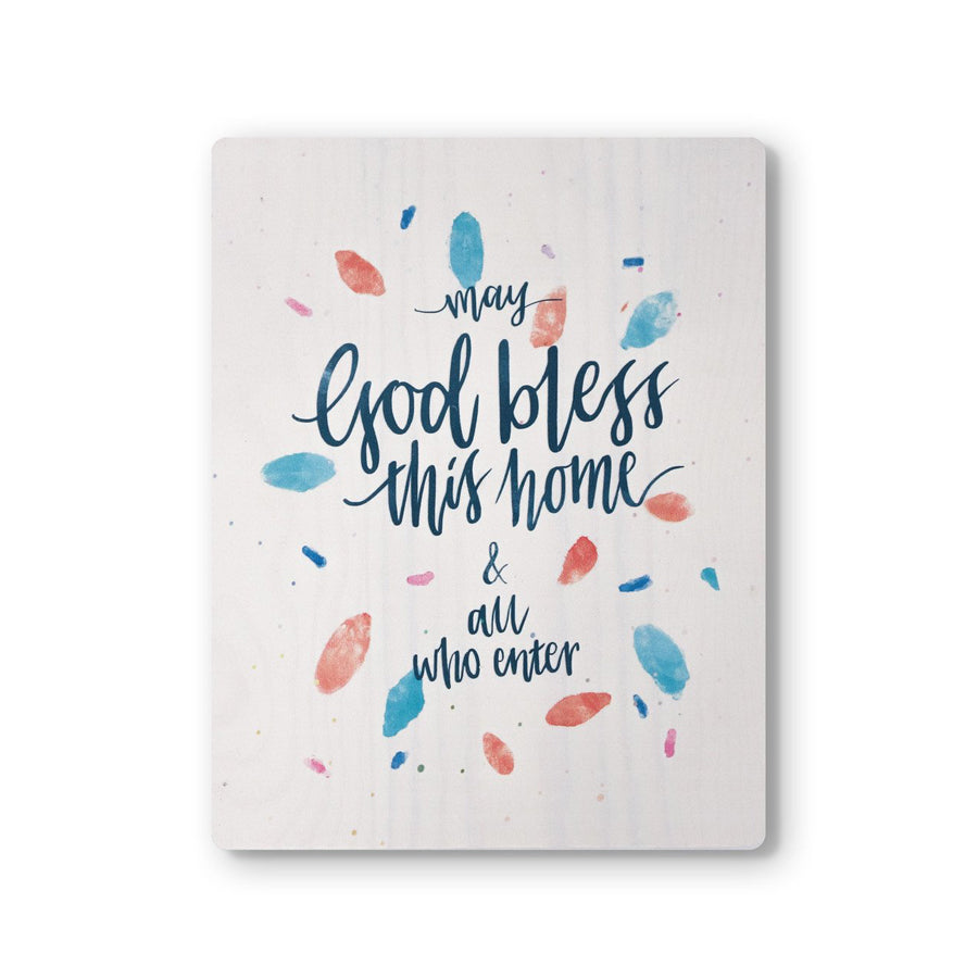 May God Bless This Home {Wood Board}