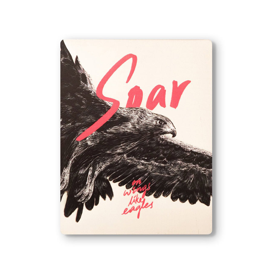 Soar on Wings like Eagles {Wood Board}