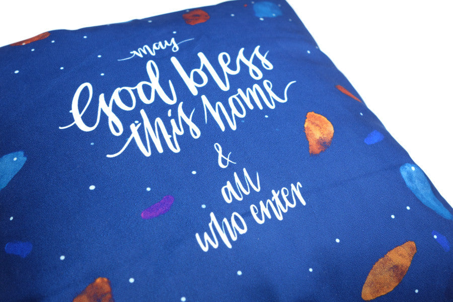 May God Bless This Home {Cushion Cover}
