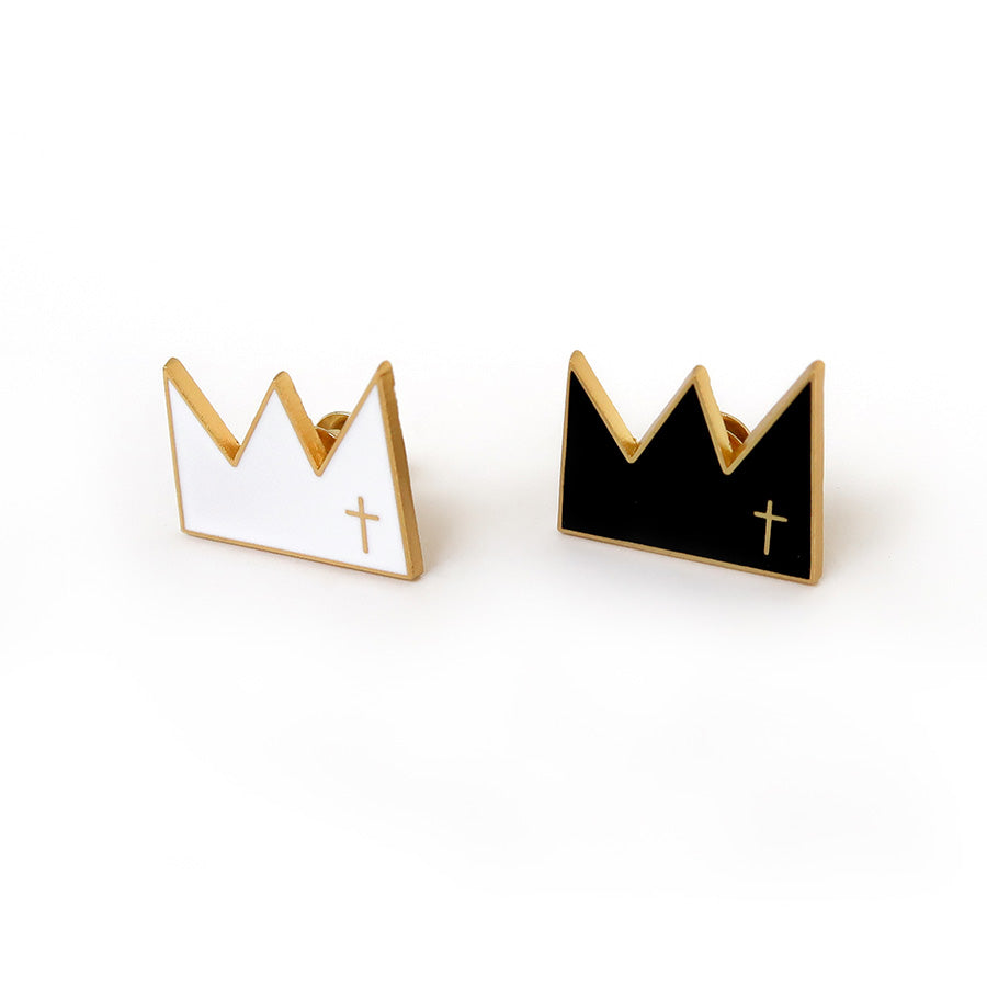 Modern classy spiritual art king of kings enamel pin gift design idea