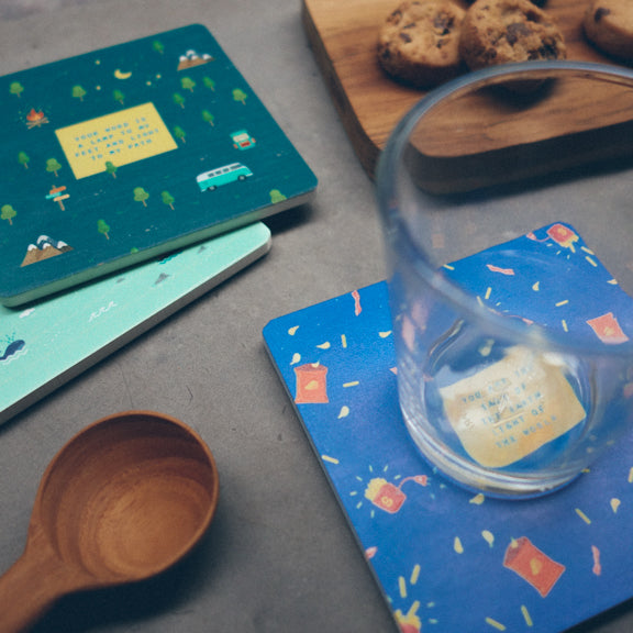Singapore locally designed coasters great as housewarming gifts or home decoration