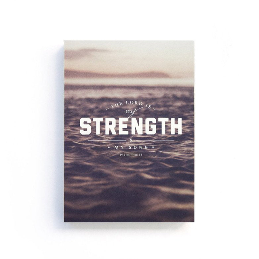 The Lord is my strength & my song {Notebook}