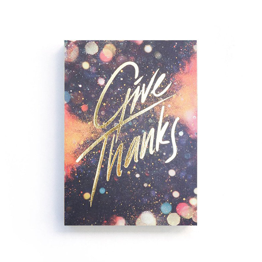 Bible verse notebooks are unique and functional gifts. This Coptic bound one features bible message 'Give Thanks' on 400GSM Cover. Comes with dotted, blank and grid pages for creative journaling.