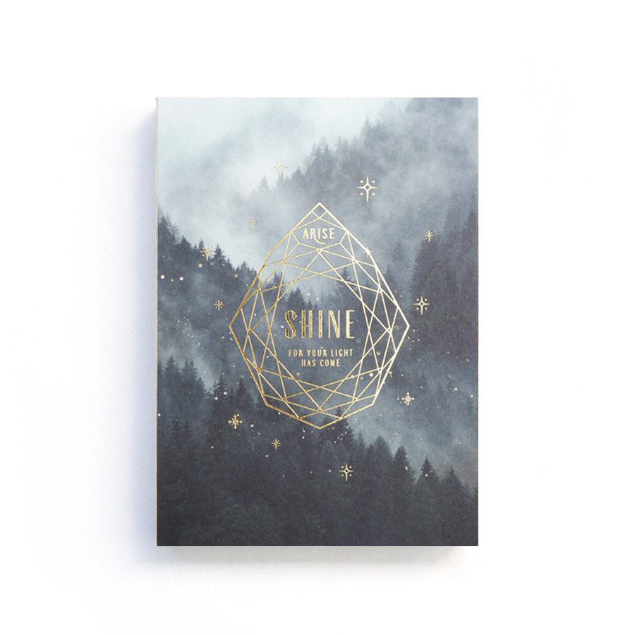 192 Pages notebook made of eco-friendly tree-free palm paper. Measures 105mm (W) x 148mm (H) x 17mm (D). 400gsm cover, 80 gsm inlay, coptically binded. Features Arise Shine