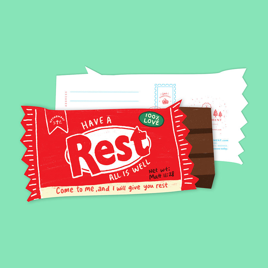 Rest Chocolate Bar {LOVE SUPERMARKET Card}