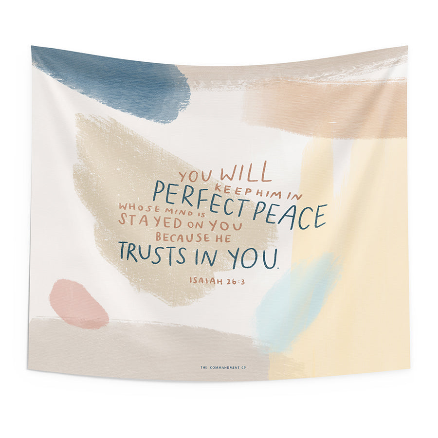 He Trusts In You {Wall Tapestry}