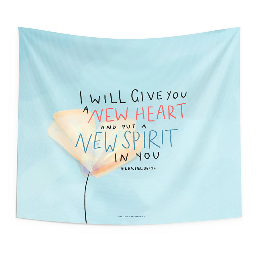 New Heart New Spirit {Wall Tapestry}