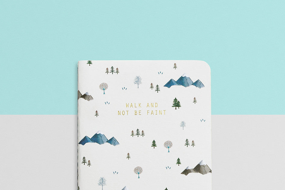 courage hey new day walk and not be faint pocket notebook