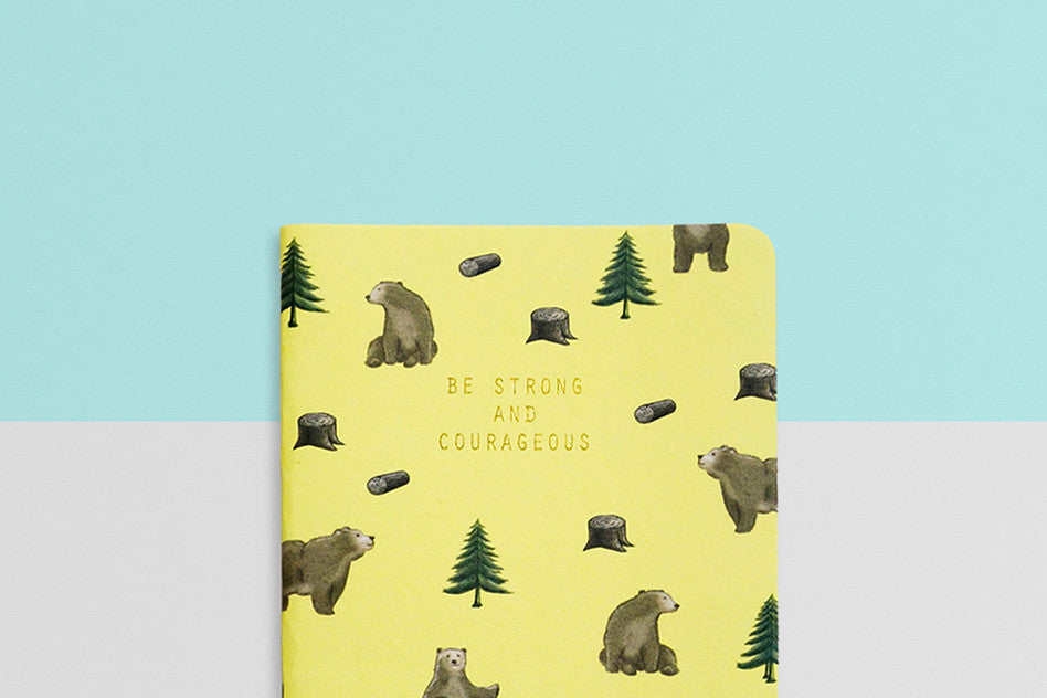courage heynewday be strong and courageous pocket notebook