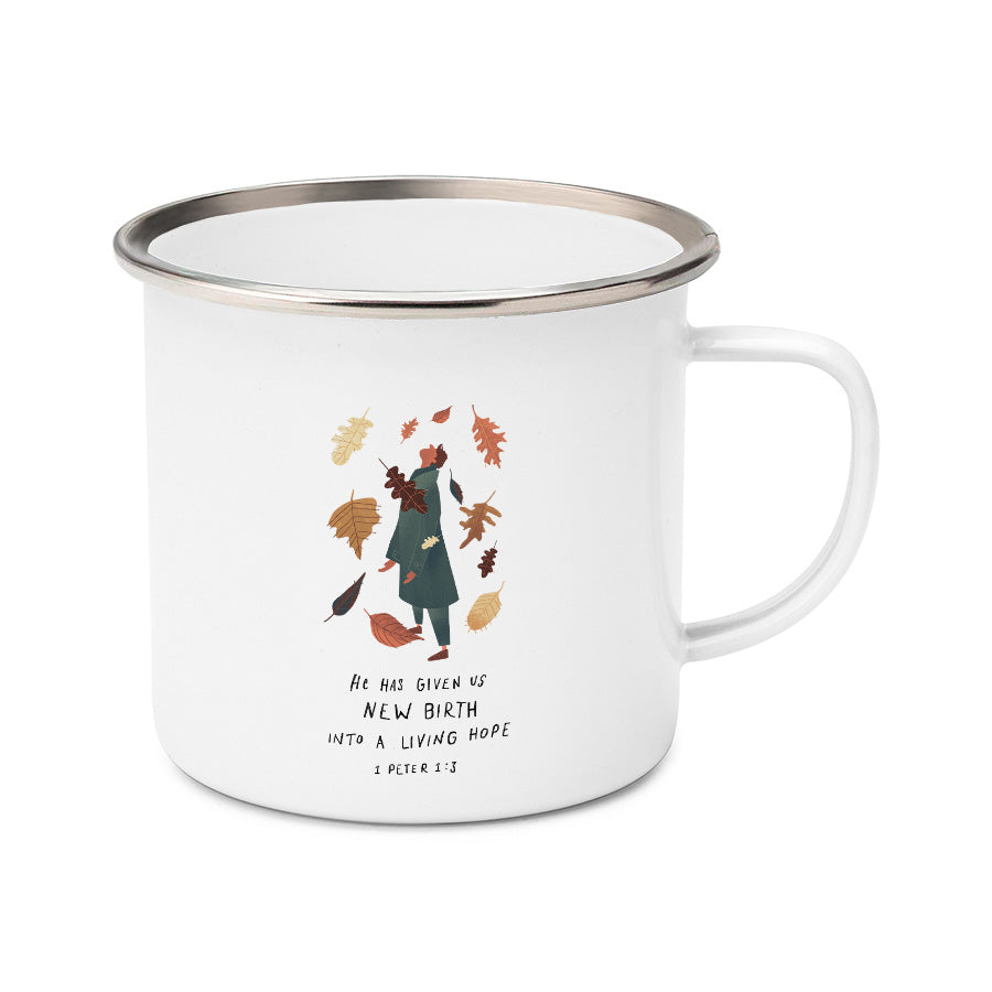 1 Peter 1:3 Creative modern Christianity Mug design by YMI