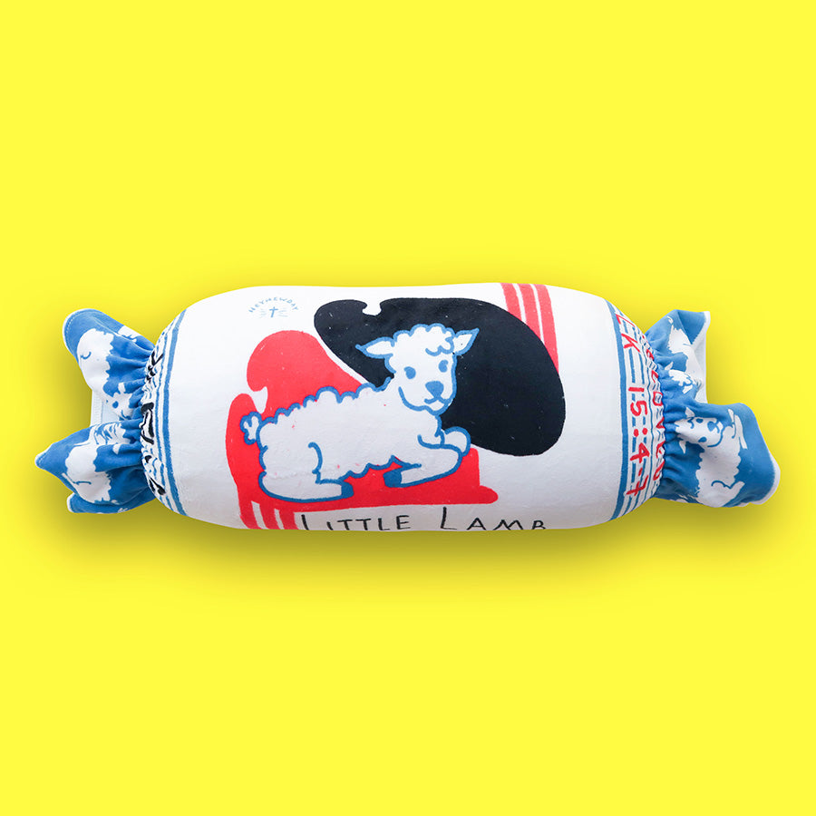 kawaii little lamb bedtime bolster for kids by The Commandment Co