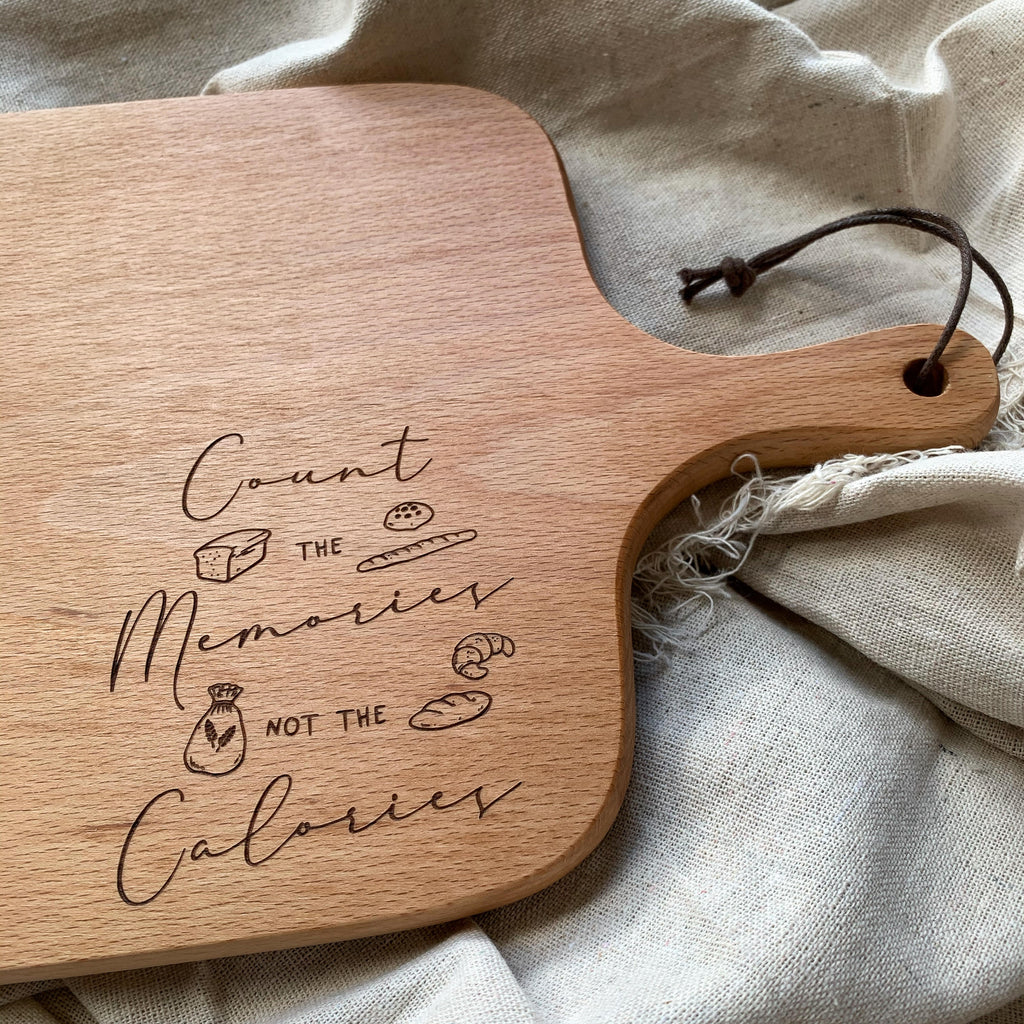 Count The Memories | Wooden Serving Board